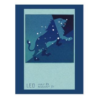 Zodiaco de la constelación del león de Leo de la Tarjetas Postales
