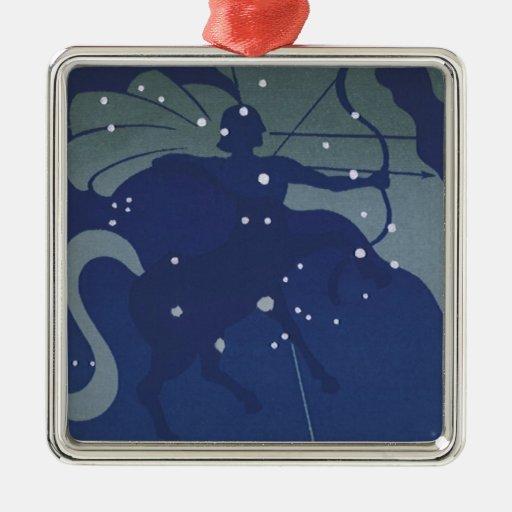 Zodiaco de la constelación del sagitario de la ast ornamento para reyes magos