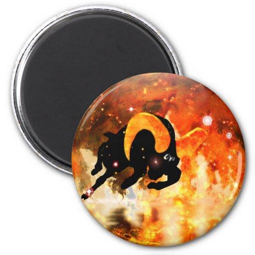 Zodiaco de la mazmorra del arte - aries imán para frigorífico