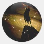 Zodiaco de la mazmorra del arte - Capricornio Etiquetas Redondas