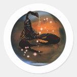 Zodiaco de la mazmorra del arte - escorpión pegatinas redondas