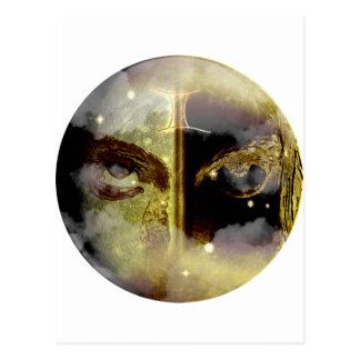 Zodiaco de la mazmorra del arte - géminis tarjeta postal