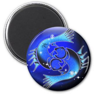 Zodiaco de la mazmorra del arte - Piscis Imán Redondo 5 Cm