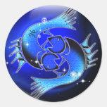 Zodiaco de la mazmorra del arte - Piscis Pegatina