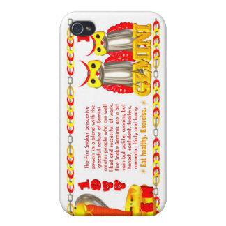 Zodiaco de la serpiente del fuego llevado 1977 gém iPhone 4 carcasas