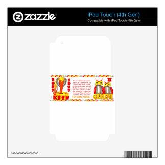 Zodiaco de la serpiente del fuego llevado 1977 gém iPod touch 4G skins