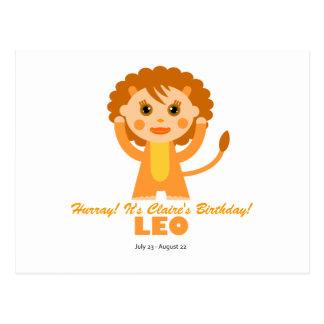 Zodiaco de Leo para los niños Postal