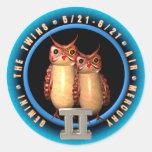 Zodiaco de los géminis de Valxart Pegatinas Redondas