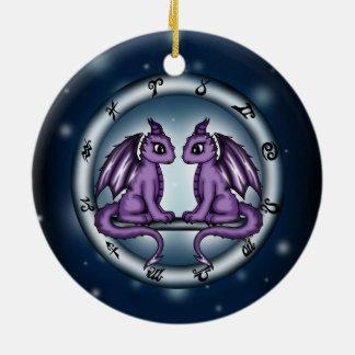 Zodiaco de los géminis del dragón adorno