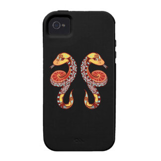 Zodiaco de los géminis - serpiente Case-Mate iPhone 4 funda
