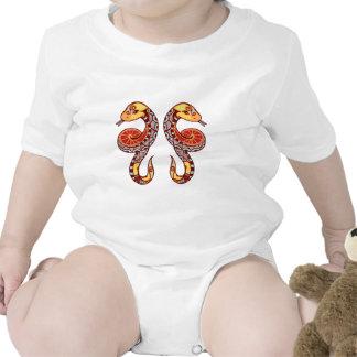 Zodiaco de los géminis - serpiente traje de bebé