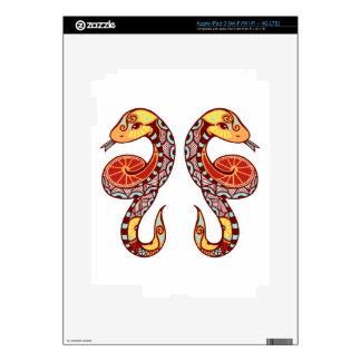 Zodiaco de los géminis - serpiente iPad 3 skins