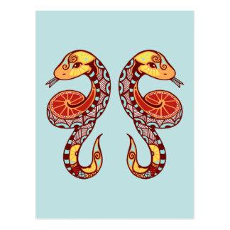 Zodiaco de los géminis - serpiente postal