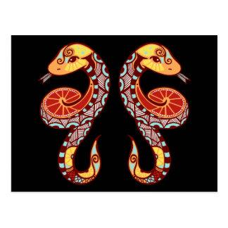 Zodiaco de los géminis - serpiente postales