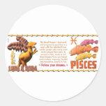 Zodiaco de madera Piscis del dragón 2024 de Pegatinas Redondas