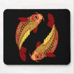 Zodiaco de Piscis - pescado Alfombrillas De Raton