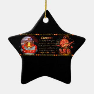 Zodiaco de Valxart llevado en el cáncer Leo del ca Ornamento Para Arbol De Navidad