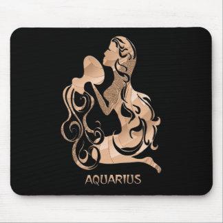 Zodiaco del acuario alfombrilla de ratón