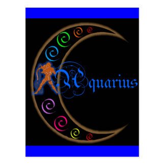 Zodiaco del acuario tarjetas postales