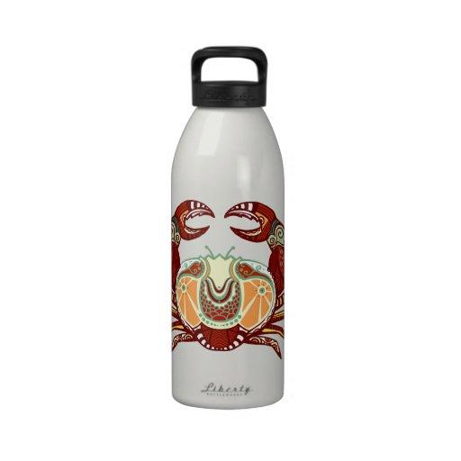 Zodiaco del cáncer - cangrejo botella de agua reutilizable