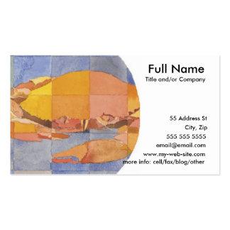 Zodiaco del cáncer tarjeta de visita