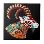 Zodiaco del Capricornio - cabra montés Azulejo