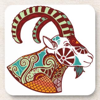 Zodiaco del Capricornio - cabra montés Posavasos De Bebida