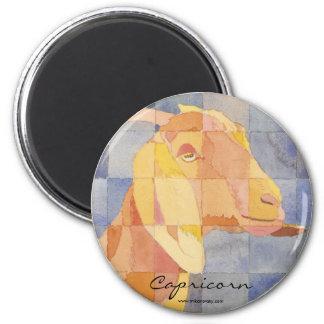 Zodiaco del Capricornio Imán Redondo 5 Cm