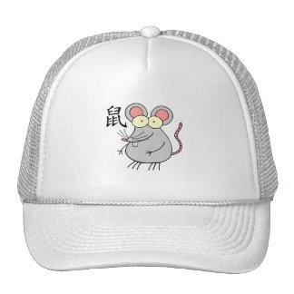 Zodiaco del chino de la rata gorras