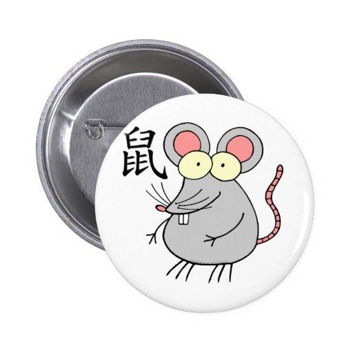 Zodiaco del chino de la rata pins