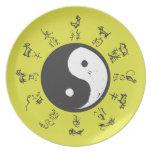 Zodiaco del chino de Yin y de Yang Plato