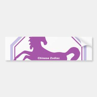 zodiaco del chino del caballo pegatina para auto