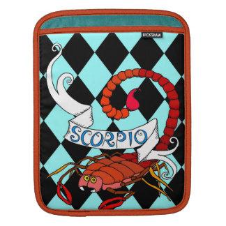 Zodiaco del escorpión de la manga del iPad de la m Fundas Para iPads