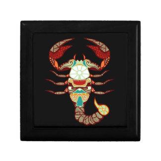 Zodiaco del escorpión - escorpión caja de recuerdo