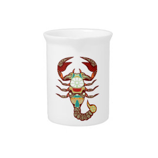 Zodiaco del escorpión - escorpión jarra para bebida