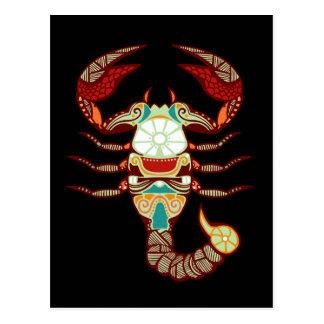 Zodiaco del escorpión - escorpión tarjeta postal