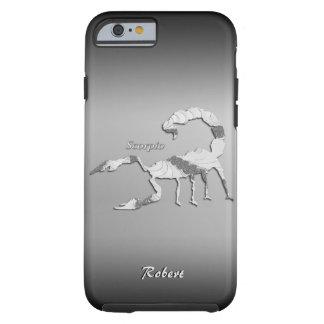 Zodiaco del escorpión funda resistente iPhone 6