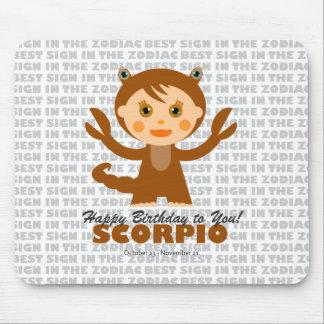 Zodiaco del escorpión para los niños mouse pads