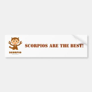 Zodiaco del escorpión para los niños pegatina para auto