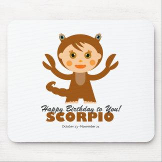 Zodiaco del escorpión para los niños tapetes de ratón