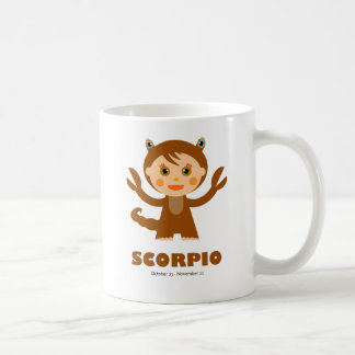Zodiaco del escorpión para los niños taza