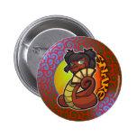 Zodiaco del este - botón de la serpiente pin
