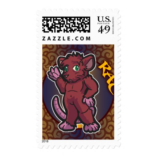Zodiaco del este - sello de la rata (vertical)