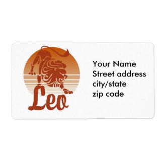 Zodiaco del león de Leo Etiquetas De Envío