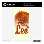 Zodiaco del león de Leo iPhone 4S Skin