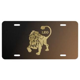 Zodiaco del león de Leo Placa De Matrícula