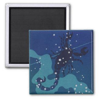 Zodiaco del vintage, astrología, constelación del imanes para frigoríficos