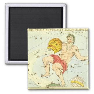Zodiaco del vintage, constelación del acuario de iman