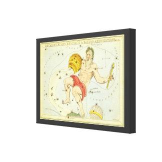 Zodiaco del vintage, constelación del acuario de impresiones de lienzo