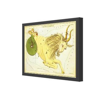 Zodiaco del vintage, constelación del Capricornio Impresiones En Lienzo Estiradas
